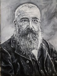 Claude Monet, oil on canvas, 12x16 inches
