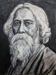 Rabindranath Tagore, oil on canvas, 12x16 inches