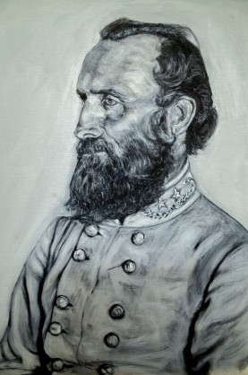 Stonewall Jackson, oil on canvas, 12x16 inches